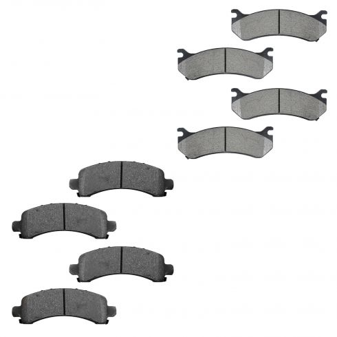 1999-05 Chevy, GMC SUV Front & Rear Semi-Metallic Brake Pad Kit