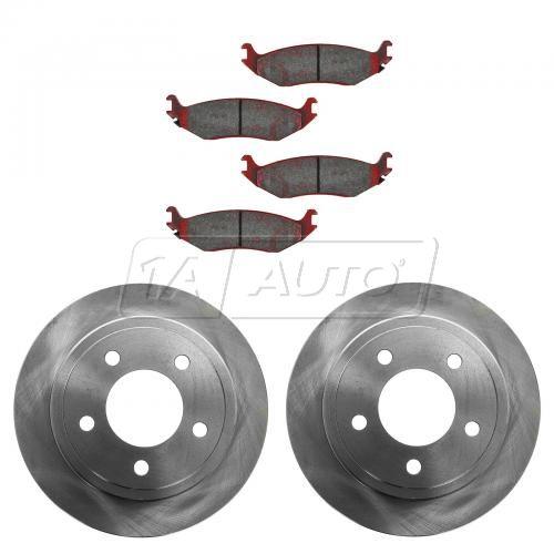 03 Dodge Ram Van 1500 Rear Ceramic Brake Pad & Rotor Kit