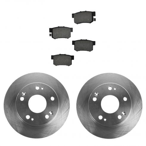 03-04 Honda Accord; 05-07 Accord (exc Hybrid); 04-08 Acura TSX Rear METALLIC Brake Pad & Rotor Kit