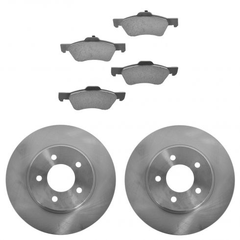 08-12 Ford Escape Hybrid; Mariner Hybrid; Tribute Hybrid Front Ceramic Brake Pads & Rotors Set