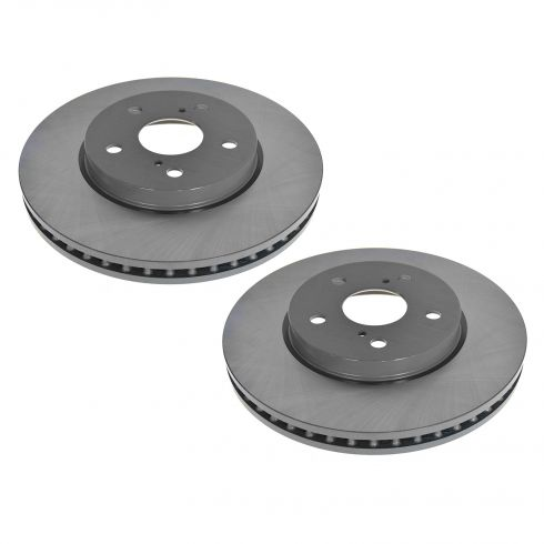 02-06 Lexus ES; 06-08 IS250; 04-10 Toyota Multifit Front E-Coated Brake Rotor Pair