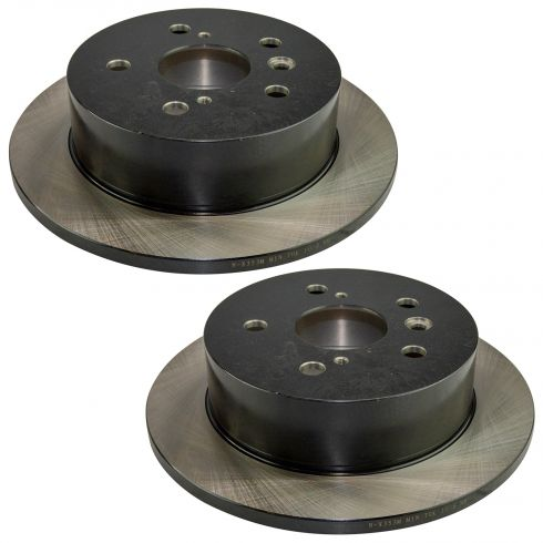 05-07 Avalon; 02-06 Camry; 02-03 ES300; 04-06 ES330; 04-08 Solara Rear E-Cpated Brake Rotor Pair
