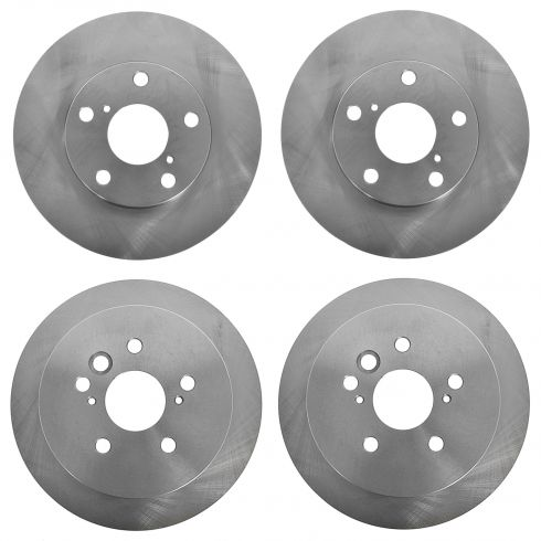 04-05 Toyota Rav4 Front & Rear Disc Brake Rotor Kit (Set of 4)