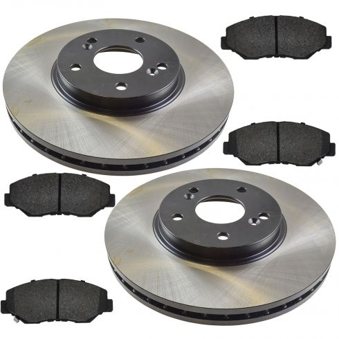 03-08 Honda Pilot Front Posi Semi Metallic Pads & E-Coated Rotor Set