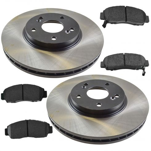 01-03 CL; 99-08 TL; 03-07 Accord V6 MT Front Posi Ceramic Pads & E-Coated Rotor Set