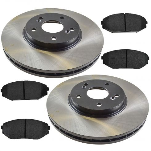 01-02 MDX; 99-04 Odyssey Front Posi Semi Metallic Pads & E-Coated Rotor Set