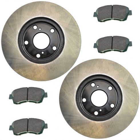 92-96 ES300; 95-97 Avalon; 92-01 Camry; 98-03 Sienna Fr Posi Ceramic Pads & E-Coated Rotor Set