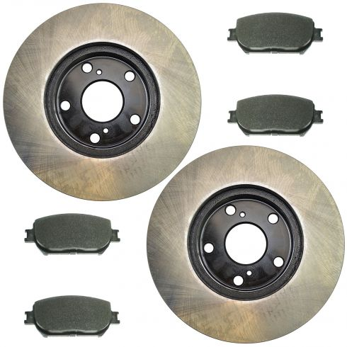 02-04 Camry; 05-06 Camry L4 Front Posi Semi Metallic Pads & E-Coated Rotor Set