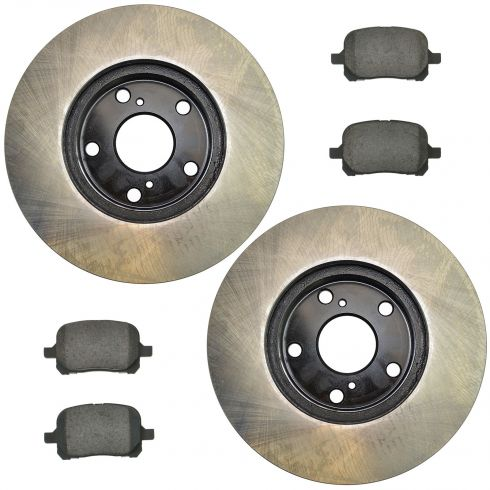 97-01 ES300; 98-04 Avalon; 97-99 Camry v6; 99-03 Solara Front Posi Ceramic Pads & E-Coated Rotor Set