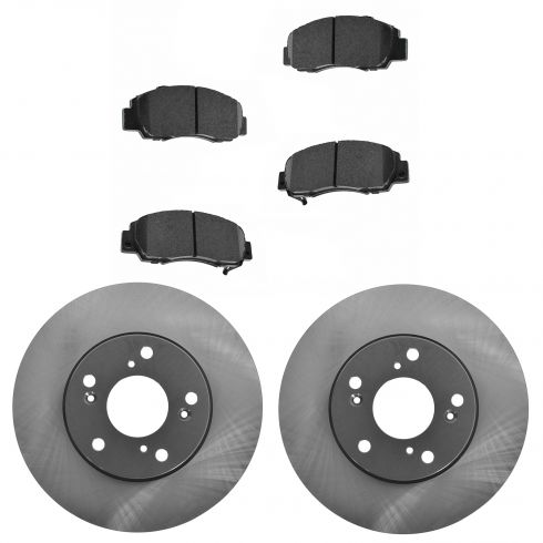 98-02 Accord Front Posi Ceramic Pads & E-Coated Rotor Set