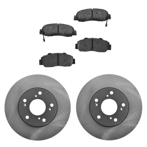 98-02 Accord Front Posi Semi Metallic Pads & E-Coated Rotor Set
