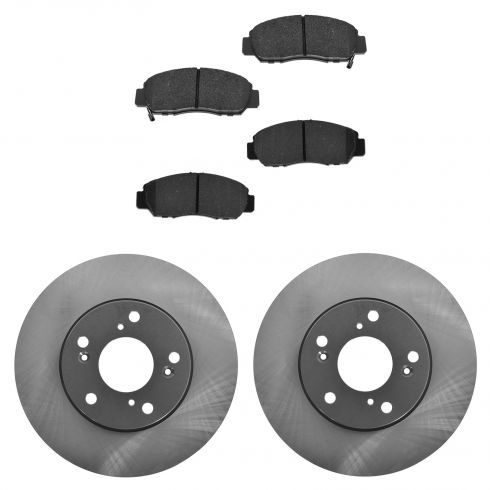 06-10 CSX; 03-07 Accord V6; 06-10 Civic GX Front Posi Ceramic Pads & E-Coated Rotor Set