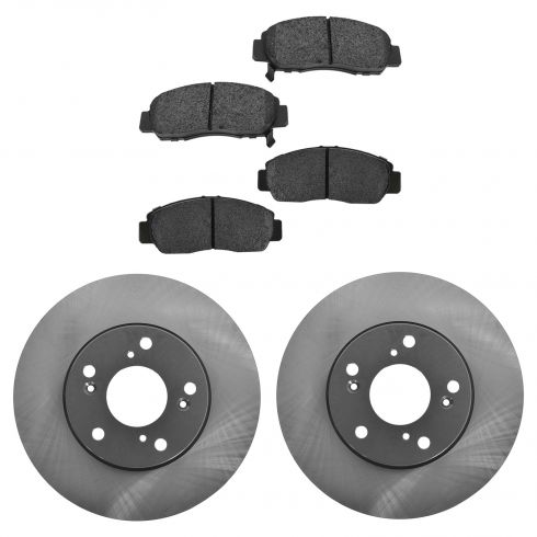 06-10 CSX; 03-07 Accord V6; 06-10 Civic GX Front Posi Semi Metallic Pads & E-Coated Rotor Set