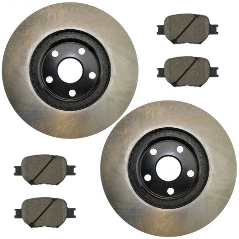 05-10 tC; 00 Celica GTS; 01-05 Celica Front Posi Ceramic Pads & E-Coated Rotor Set