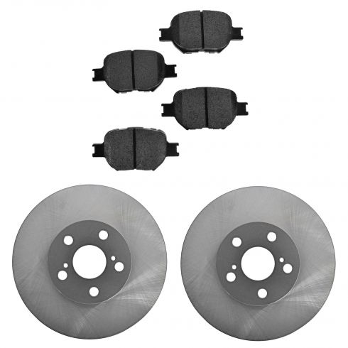 05-10 tC; 00 Celica GTS; 01-05 Celica Front Posi Semi Metallic Pads & E-Coated Rotor Set