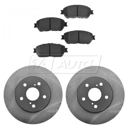 02-03 ES300; 04-06 ES330; 04-10 Sienna; 05-06 Camry V6 Front Posi Ceramic Pads & E-Coated Rotor Set