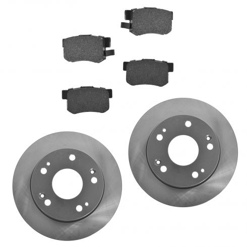 04-08 TSX Rear Posi Ceramic Pads & E-Coated Rotor Set