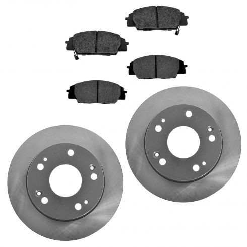 04-08 TSX Rear Posi Semi Metallic Pads & E-Coated Rotor Set