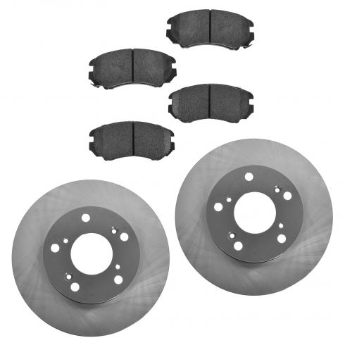 06-10 Civic (exc SI) Front Posi Ceramic Pads & E-Coated Rotor Set