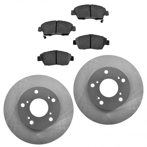 02-06 RSX Front Posi Ceramic Pads & E-Coated Rotor Set