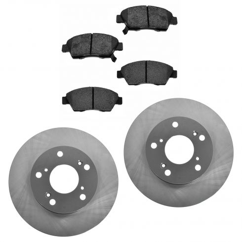 02-06 RSX Front Posi Semi Metallic Pads & E-Coated Rotor Set