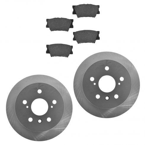 07-12 ES350; 08-12 Avalon; 07-11 Camry Rear Posi Ceramic Pads & E-Coated Rotor Set