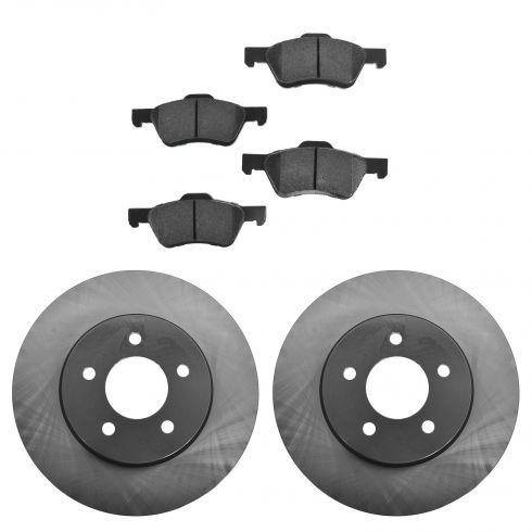 08-12 Escape H; 08-11 Tribute H; 08-11 Mariner H Front Posi Semi Metallic Pads & E-Coated Rotor Set