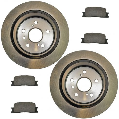 02-03 ES300; 04-06 ES330; 02-06 Camry Vin J Rear Posi Ceramic Pads & E-Coated Rotor Set