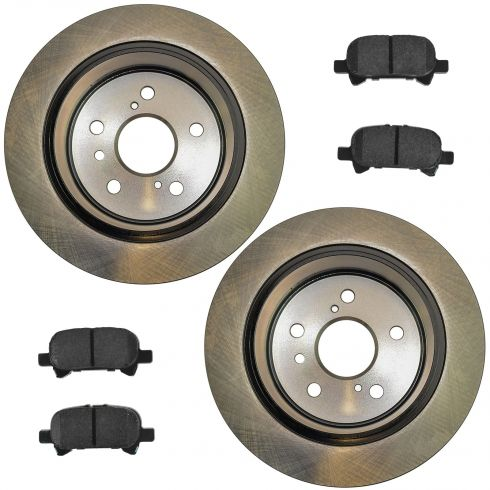 02-06 Camry Vin 4; 05-07 Avalon; 04-08 Solara Rear Posi Ceramic Pads & E-Coated Rotor Set