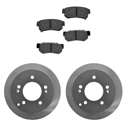 07-10 Optima;02-05 XG350;05-09 Tucson;06-08 Sonata Rear Posi Ceramic Pads & ECoated Rotor Set