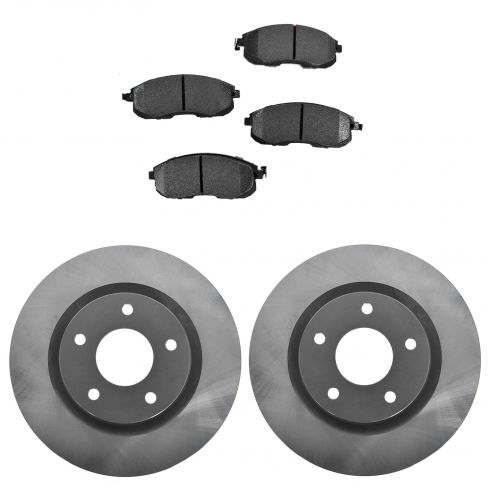 07-12 Altima; 13 Altima Coupe; 07-11 Altima H Front Posi Ceramic Pads & E-Coated Rotor Set