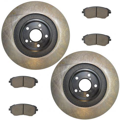09-11 Impreza WRX; 06-13 Legacy; 06-13 Outback Front Posi Ceramic Pads & E-Coated Rotor Set