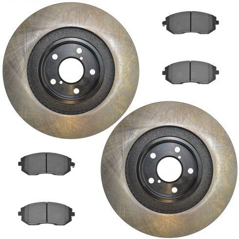 09-11 Impreza WRX; 06-13 Legacy; 06-13 Outback Front Posi Semi Metallic Pads & E-Coated Rotor Set