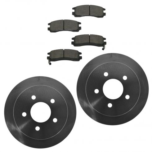 09 Lacrosse; 06-10 Impala; 06-07 Monte Carlo Rear CERAMIC Brake Pads & Rotor Kit