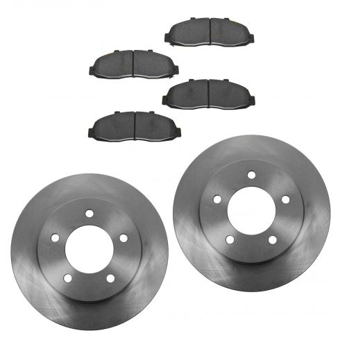 97-04 Ford F150 Pickup Front Brake Rotor & CERAMIC Brake Pad Kit