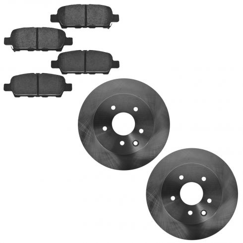 06-13 Nissan 350Z/370Z; Infiniti Multifit Rear Disc Brake Rotor & Ceramic Brake Pad KIT