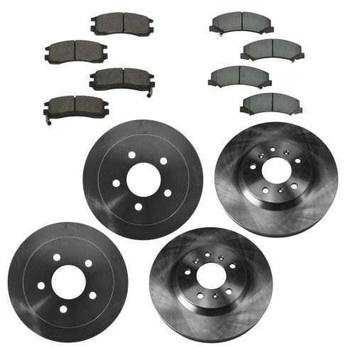 06-10 Chevy Impala 3.9L; 06-07 Monte Carlo Front & Rear CERAMIC Brake Pad & Rotor Kit