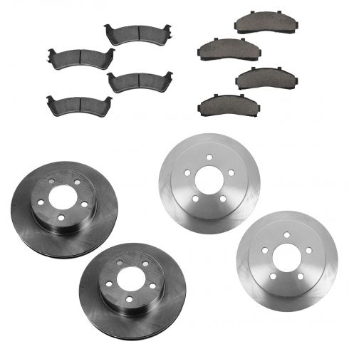 95-01 Ford Explorer; 97-01 Mercury Mountaineer Front & Rear CERAMIC Brake Pad & Rotor Kit