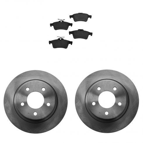 06-13  Mazda 3 2.3L Rear Semi-Matallic Brake Pad & Rotor Kit