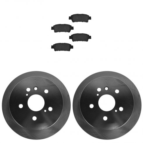 04-10 Toyota Sienna Rear CERAMIC Brake Pad & Rotor Kit