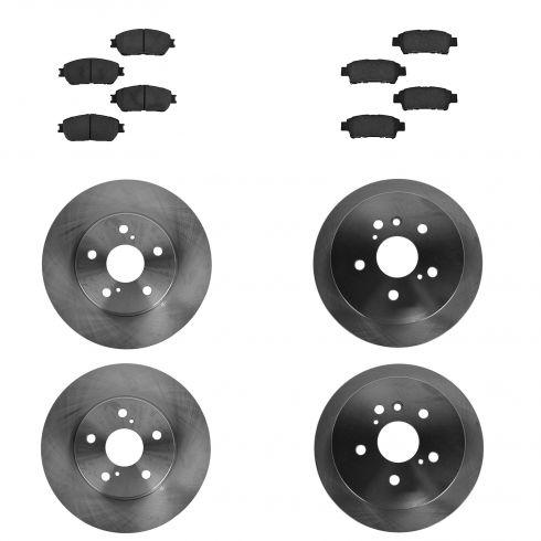 04-10 Toyota Sienna Front & Rear CERAMIC Brake Pad & Rotor Kit