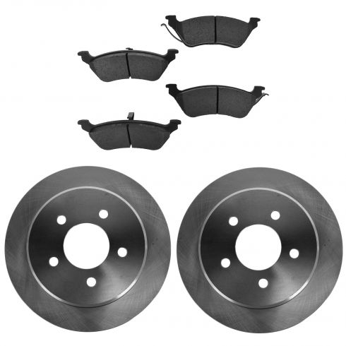 01-07 Chrysler Town & Country, Caravan, Grand Caravan Rear Semi-Metallic Brake Pad & Rotor Kit