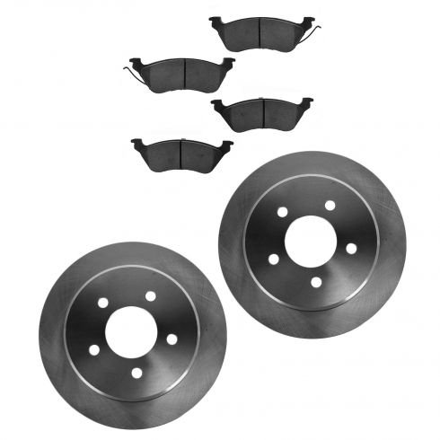 01-07 Chrysler Town & Country, Caravan, Grand Caravan Rear Ceramic Brake Pad & Rotor Kit