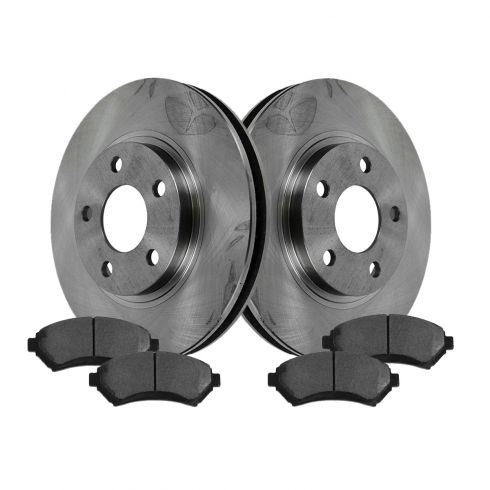 1997-05 Chevy; Buick; Olds; Pontiac Front Ceramic Brake Pads & Rotors Set