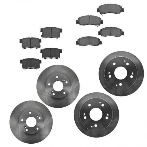 98-02 Honda Accord V6 Front & Rear Ceramic Pads & Rotor Kit