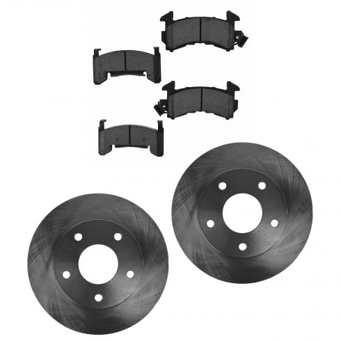 Buick, Cadillac, Chevy, GMC, Olds Multifit Front Ceramic Brake Pad & Rotor Kit