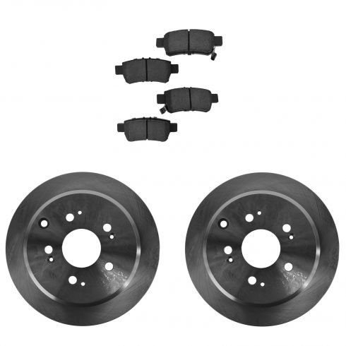 05-10 Honda Odyssey Rear Disc Brake Rotor & Ceramic Pad Kit