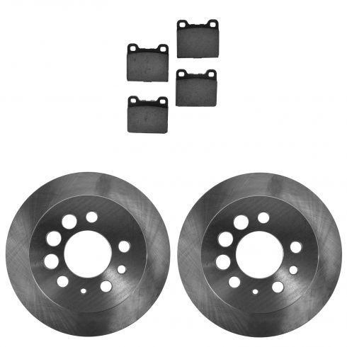 Rear Brake Rotor & Ceramic Pad Kit Volvo 240; 245; 260; 740; 940; 960