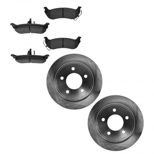 04-08 Chrysler Pacifica Rear CERAMIC Brake Pad & Rotor Kit