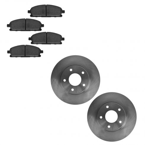 04-09 Nissan Quest Front SEMI METALLIC Brake Pad & Rotor Kit